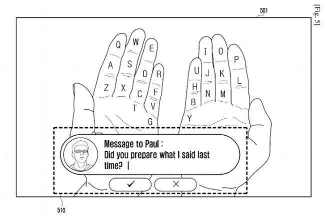 samsung teclado de realidad aumentada
