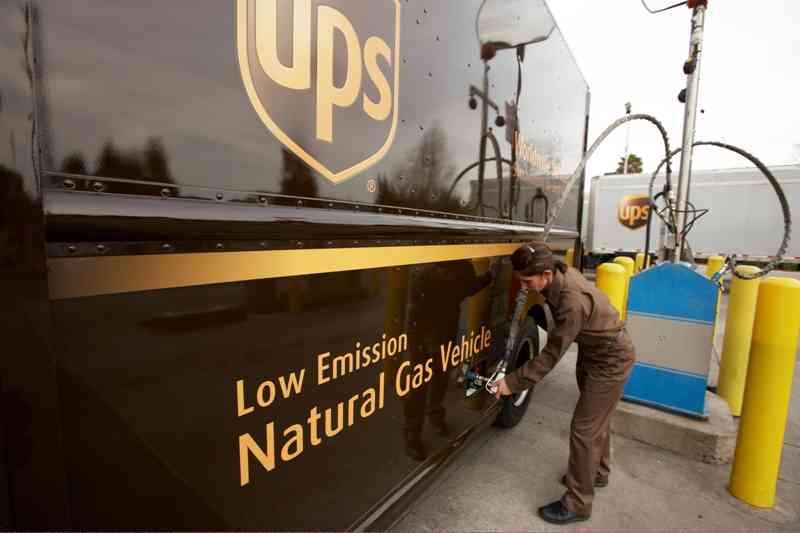 Camion UPS ahorran en combustible