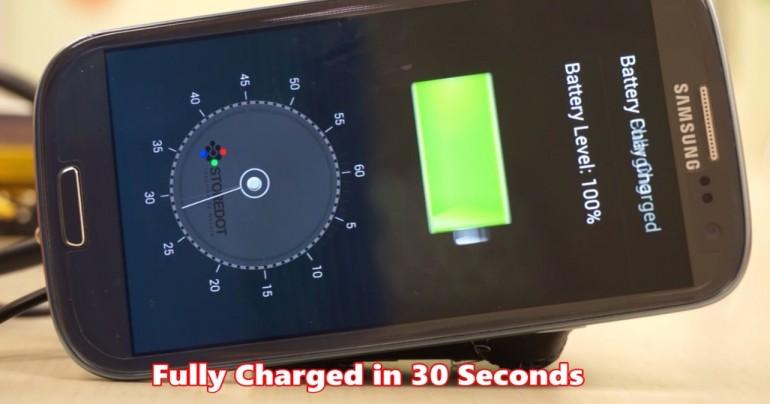 bateria de carga rapida de smartphones