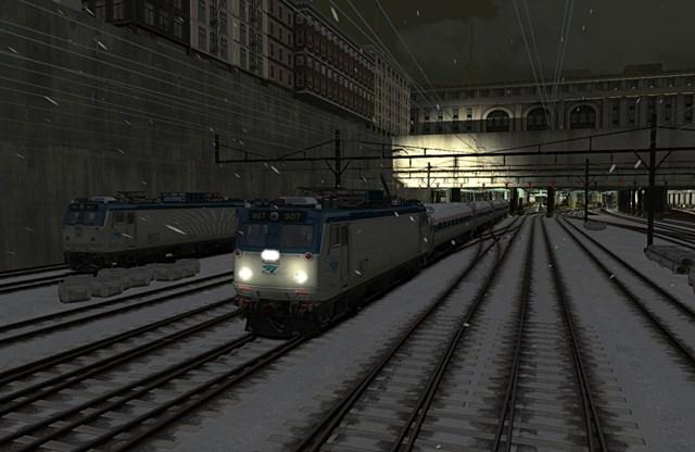 entrar al tren de new york presentando el movil