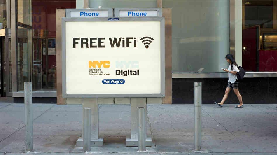 wifi gratis en cabinas telefonicas de new york