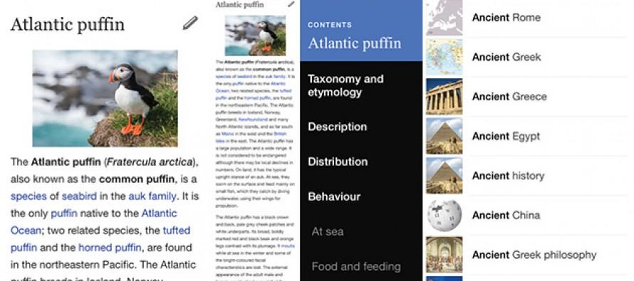 wikipedia app nativa iOS