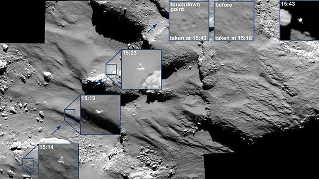 carbono en cometa