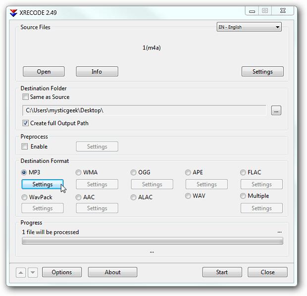 application convertir m4a en mp3