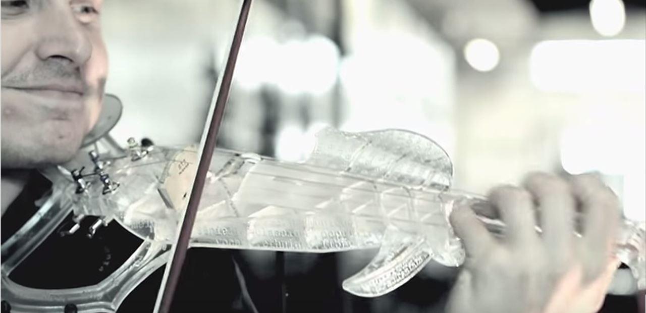 violin impreso en 3D