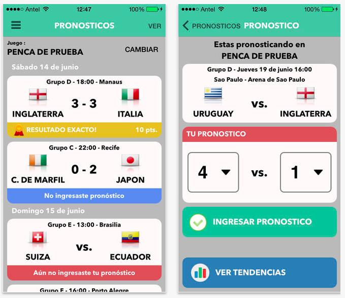 Brasil Pronostica 2014 en iPhone