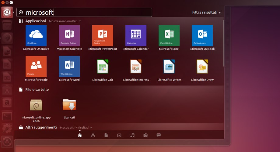 Microsoft Online Apps Linux