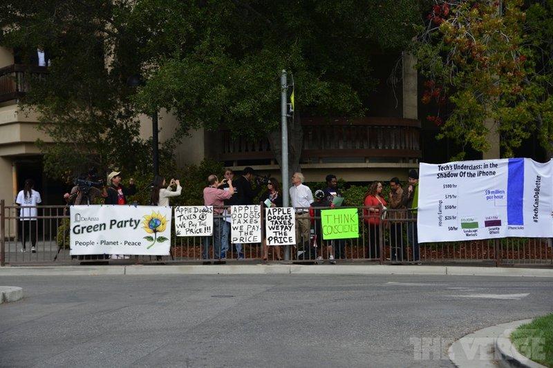 protesta contra apple