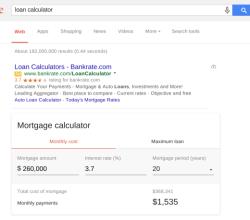 calculadora hipotecas de google