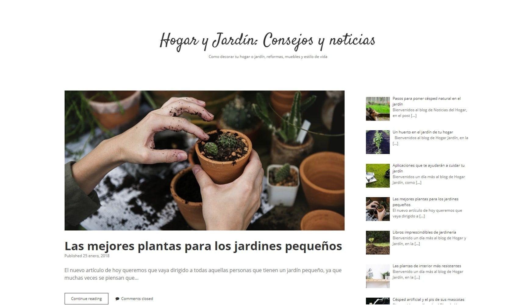 Hogar Y Jardín Nuevo Blog De Artículos Sobre Jardinería