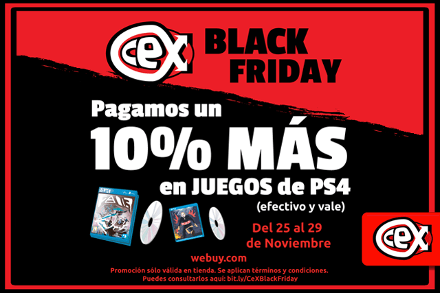 Cex Celebra El Black Friday Pagando Un 10 Mas A Sus Clientes Tecnobitt Un Bit De Tecnologia Diaria